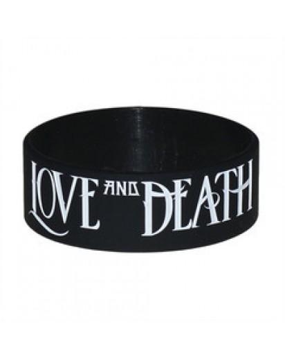 """Love and Death 1"""" Bracelet (Black)"""